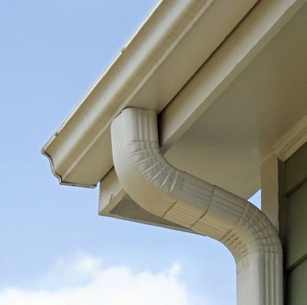 Downspouts installed by Huuso