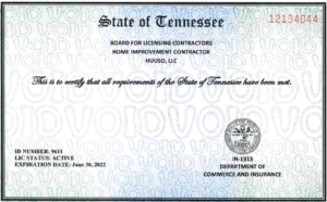 Tennessee license